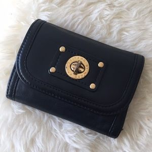 Marc Jacobs Black Butter Leather Trifold Wallet